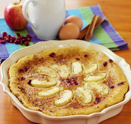 Apple, Cranberry and Cinnamon Milk Tart